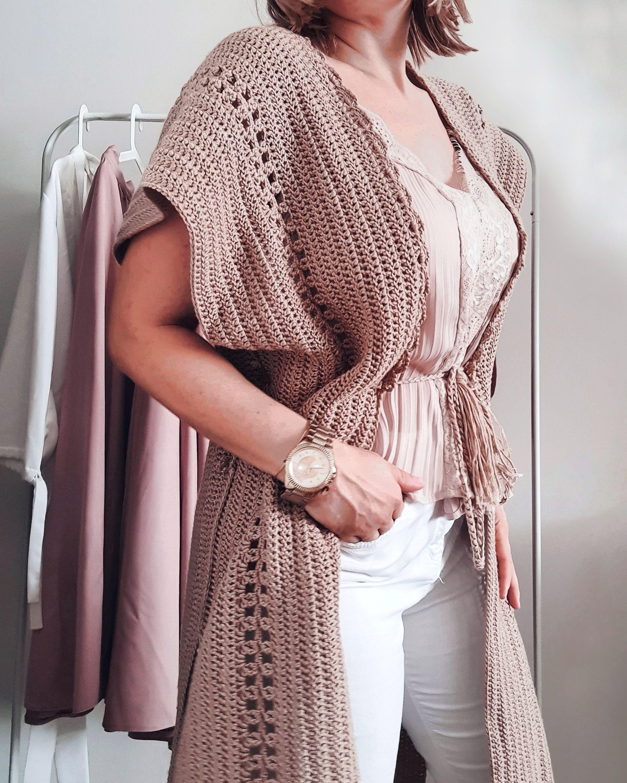 Crochet vest- WHITE