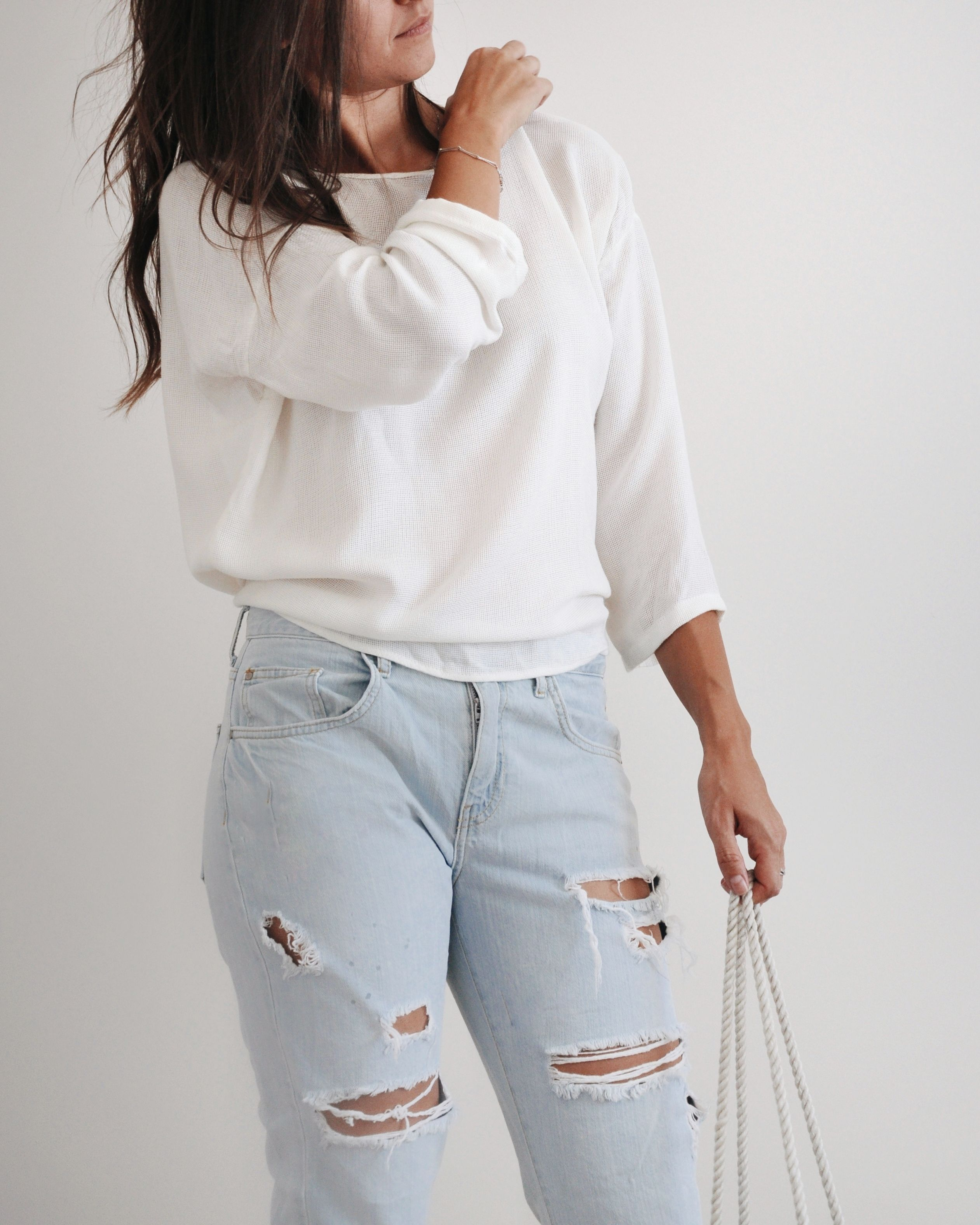 LAYLA - open back blouse